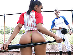 Busty Baseball Babe